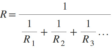 Formula for parallel resistors