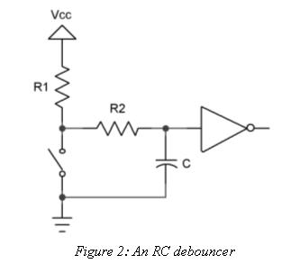 RC debouncer circuit