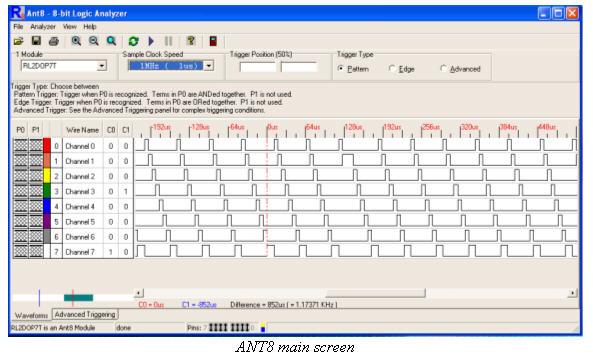 ANT8 main screen