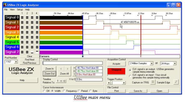 USBee main screen