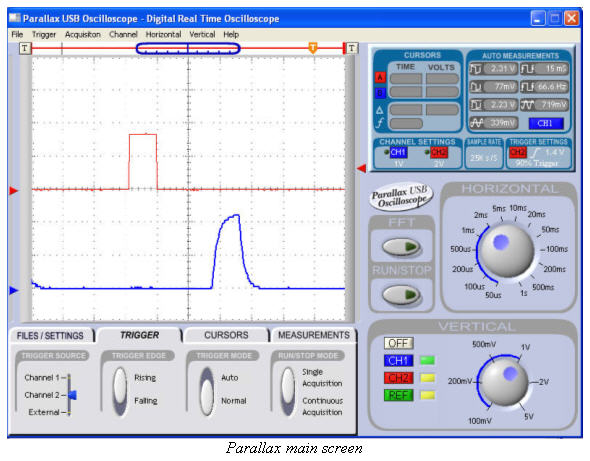 Picoscope main screen shot