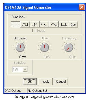 Stingray signal generator screen shot