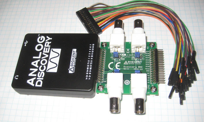 BNC Board for the Analog Discovery