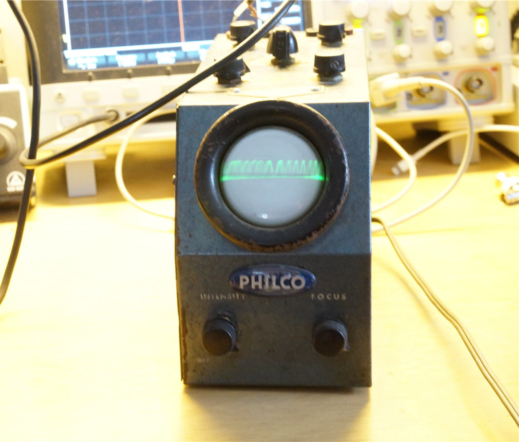 A Philco 7019 oscilloscope
