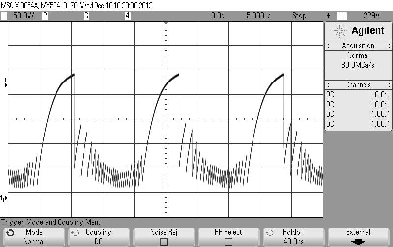 Philco 7019 scope horizontal oscillator