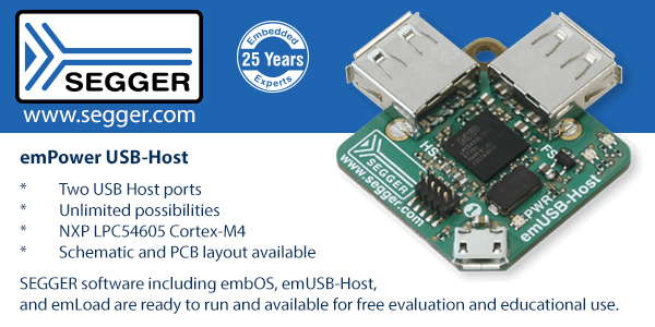 SEGGER emPower Dual USB Host Evaluation Board