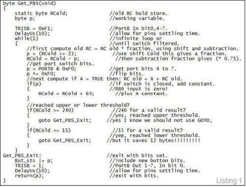 Debounce code version 1