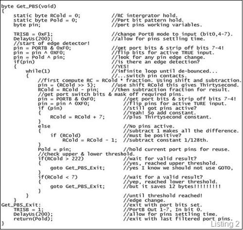 Debounce code version 2