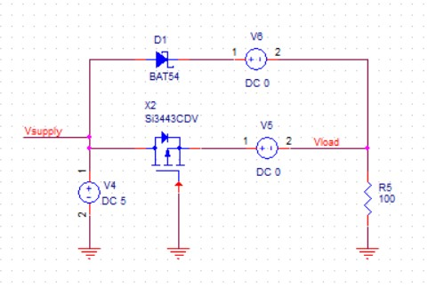 FET reverse battery protection circuit
