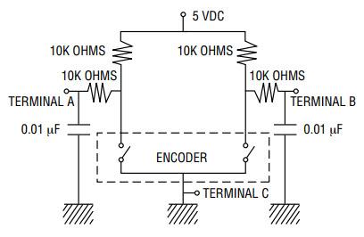 Encoder debounce circuit