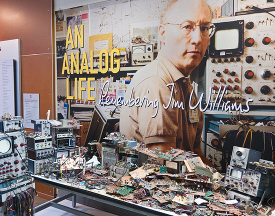 Jim Williams workbench - what a mess!
